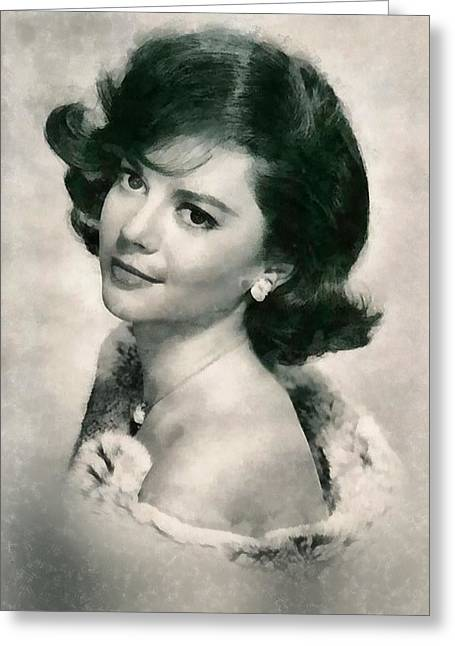 Natalie Wood By John Springfield Greeting Card