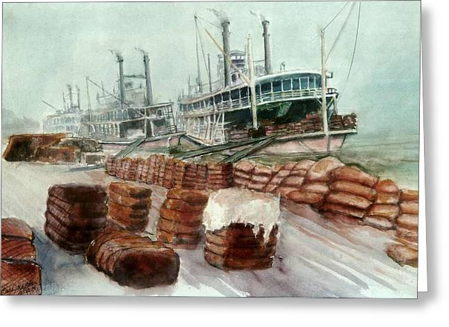 Natchez Cotton Docks  Greeting Card