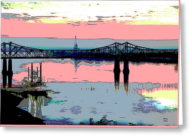 Natchez Mississippi Greeting Card by Charles Shoup