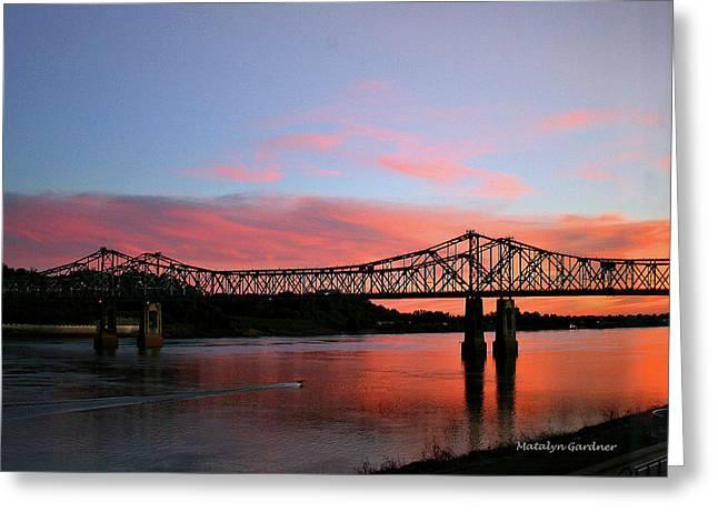 Natchez Sunset Greeting Card