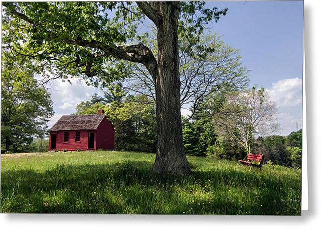 Nathan Hale One-room Schoolhouse Greeting Card by Betty Denise