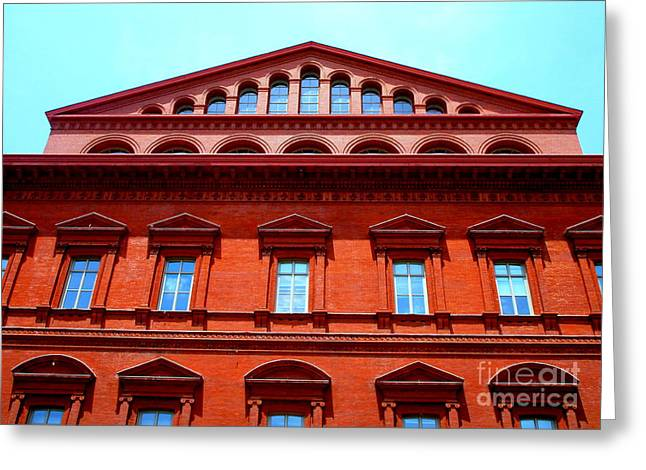 National Building Museum 1 Greeting Card by Randall Weidner