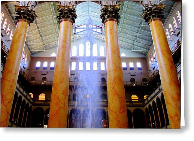 National Building Museum 3 Greeting Card by Randall Weidner
