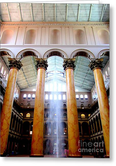 National Building Museum 4 Greeting Card by Randall Weidner