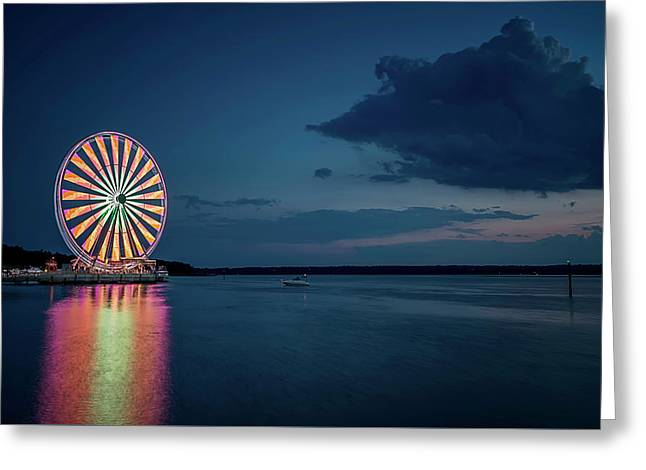 National Harbor Ferris Wheel Greeting Card