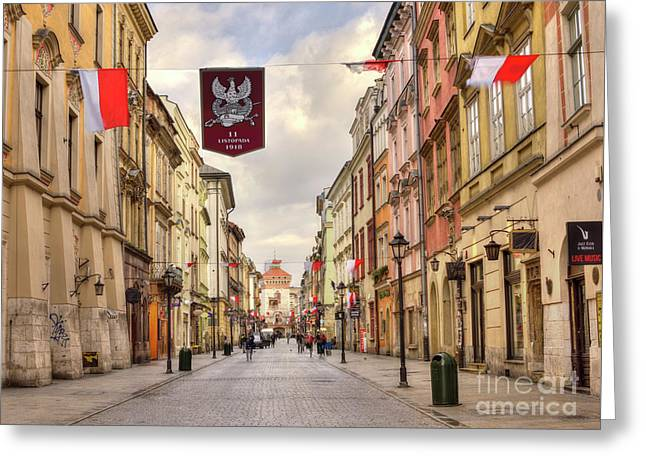 National Independence Day, Krakow, Poland 2017 Greeting Card