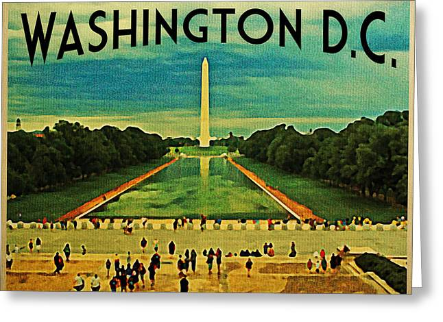 National Digital Greeting Cards - National Mall Washington D.C. Greeting Card by Flo Karp