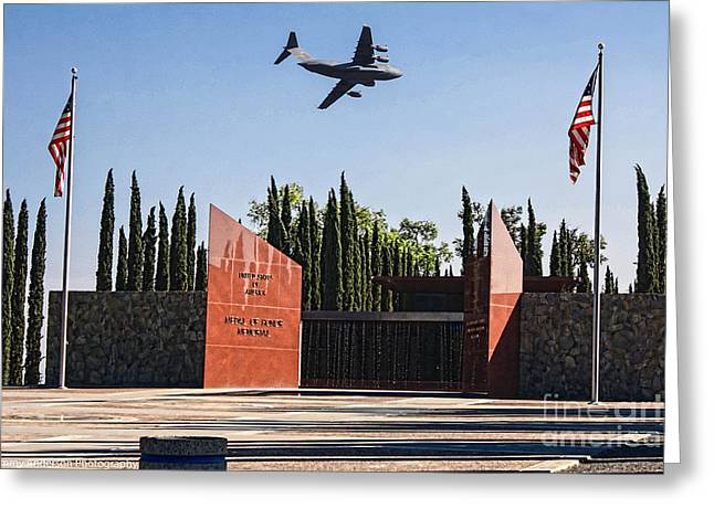 National Medal Of Honor Memorial Fly Over Greeting Card by Tommy Anderson