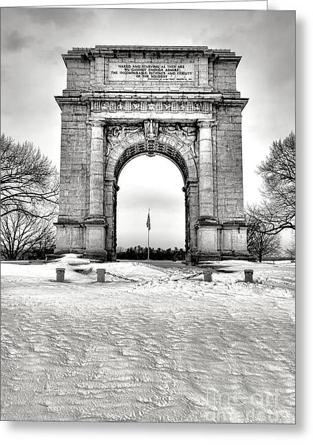National Memorial Arch In Winter Greeting Card