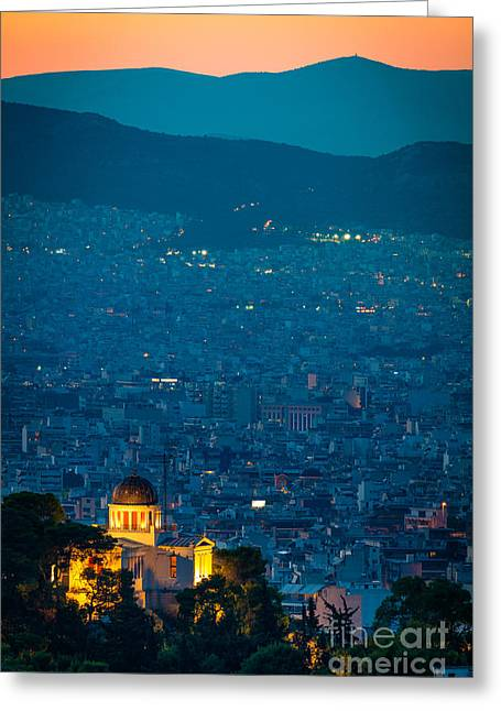 National Observatory Of Athens Greeting Card by Inge Johnsson