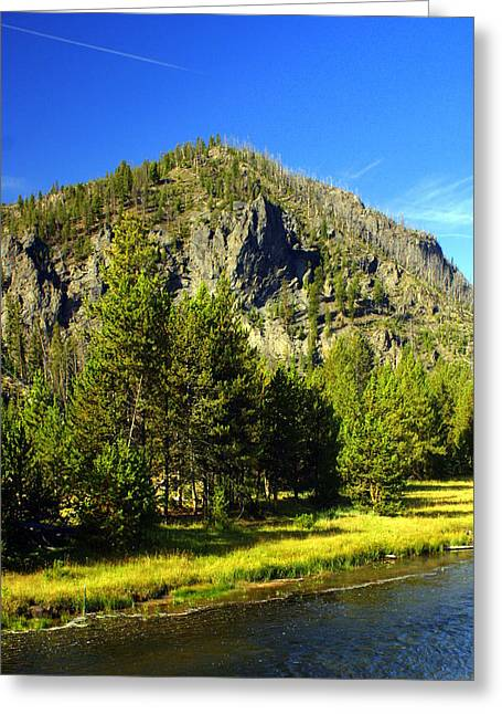 National Park Mountain Greeting Card by Marty Koch
