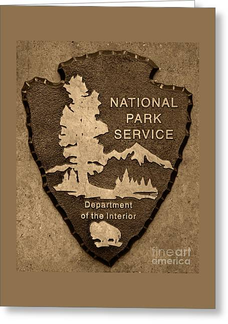 National Park Service Logo Greeting Card by John Stephens