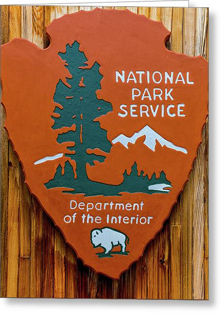 National Park Service Sign Greeting Card by Brian MacLean