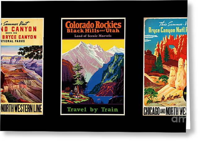 National Parks Posters Greeting Card