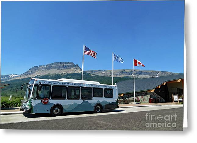 Greeting Card featuring the photograph National Parks. St. Mary Visitor Center At Glacier by Ausra Huntington nee Paulauskaite