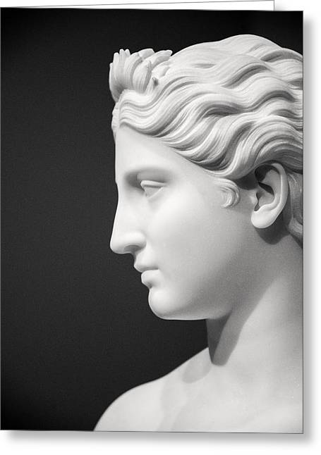 National Portrait Gallery Statue Profile Greeting Card