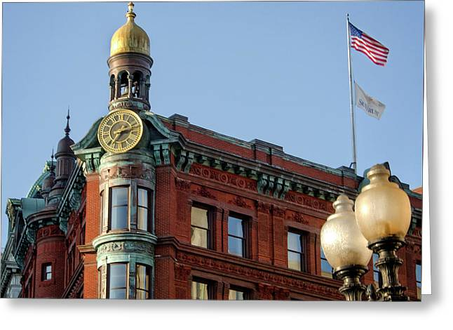 Greeting Card featuring the photograph National Savings And Trust Company by Greg Mimbs