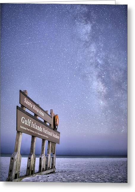 National Seashore Nights Greeting Card by JC Findley