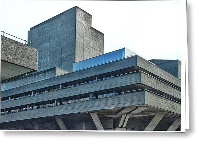 National Theatre London - Concrete Landscape Greeting Card