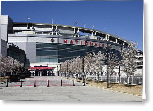Nationals Park In Washington D.c. Greeting Card by Brendan Reals