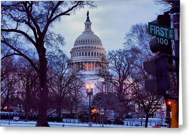 Nations Capitol Greeting Card by Jimmy Ostgard