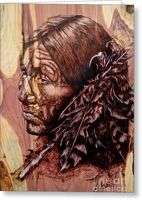Native Greeting Card by Amanda Hukill