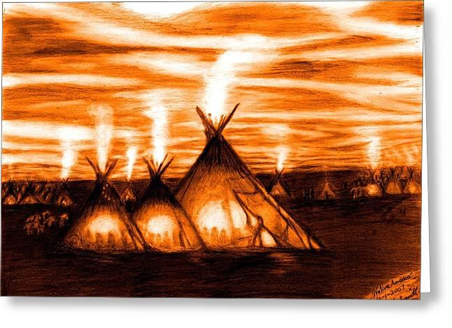 Native America  Greeting Card by Bob Schmidt