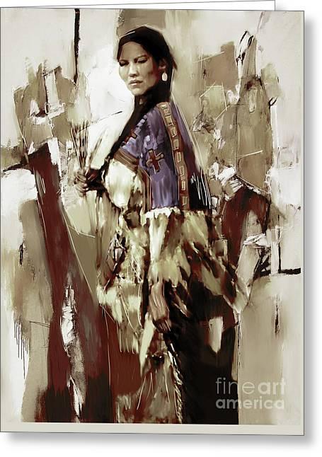 Native America Woman 33 Greeting Card
