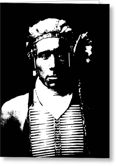 Native American 12 Curtis Greeting Card by David Bridburg
