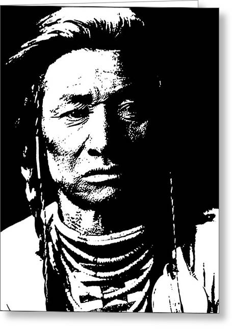 Native American 15 Curtis Greeting Card by David Bridburg
