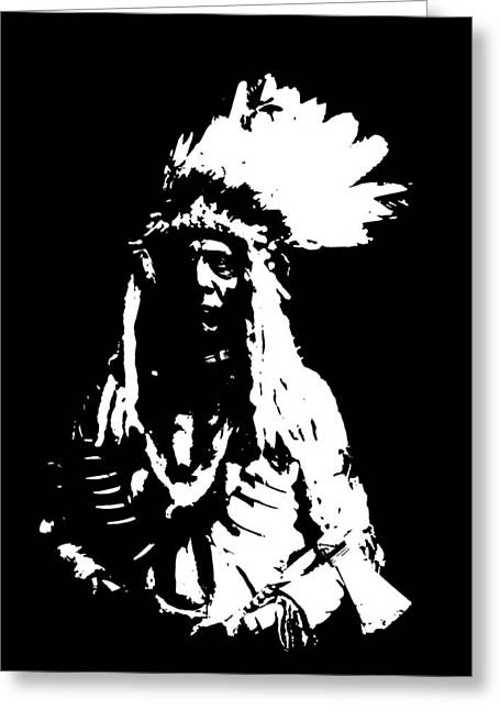 Native American 20 Curtis Greeting Card by David Bridburg