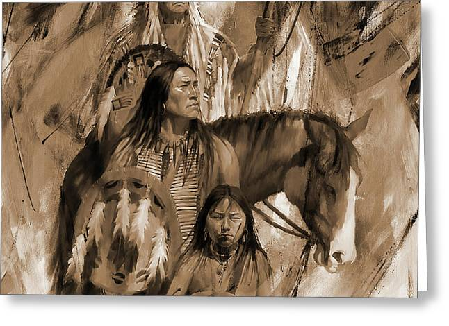 Native American 456p Greeting Card by Gull G