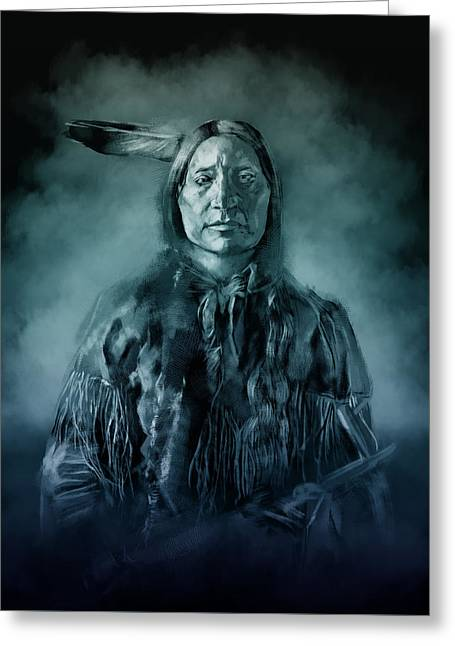 Native American Chief-scabby Bull 3 Greeting Card