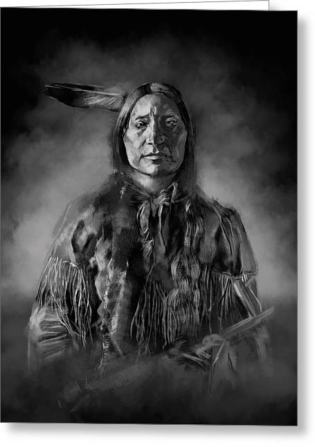 Native American Chief-scabby Bull Greeting Card
