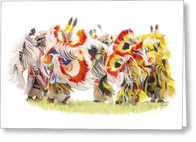Native Color In Motion Greeting Card