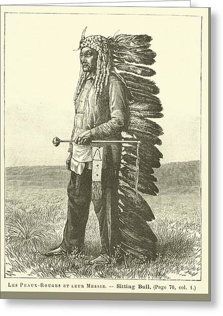 Native American Greeting Card by French School