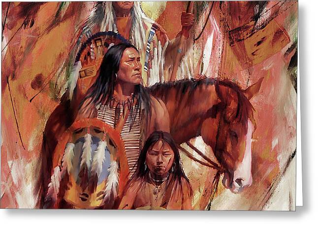 Native American Ght6 Greeting Card by Gull G