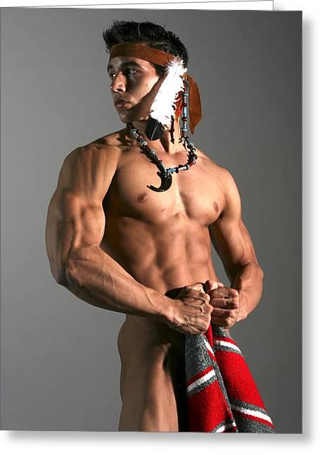 Native American I Greeting Card by Dan Nelson