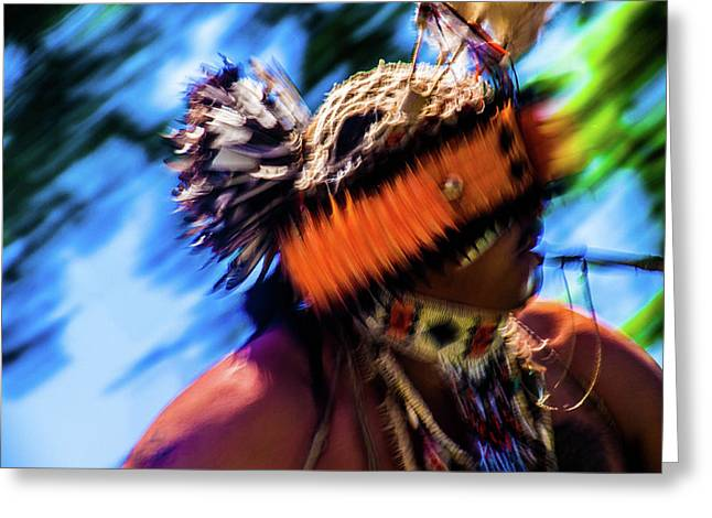 Native American In Motion  Greeting Card