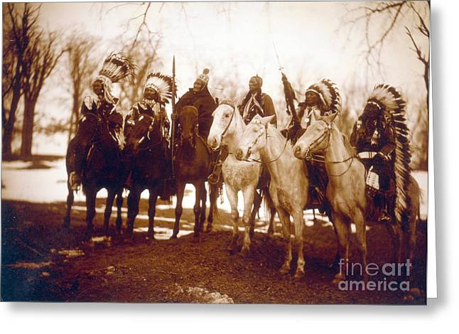 Native American Indian Tribal Leaders Greeting Card by Science Source