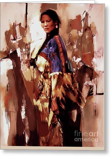 Native American Lady 03  Greeting Card
