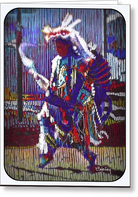 Native American - Male Fancy Dancer #4 Greeting Card