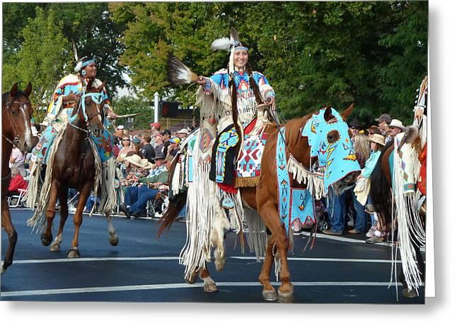 Native American Princess Greeting Card by Bonita Waitl