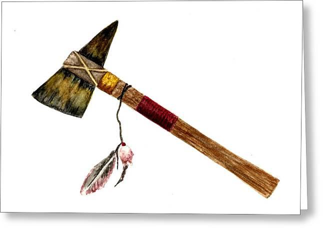 Native American Tomahawk Greeting Card