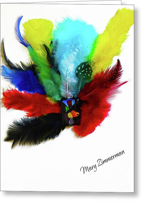 Native American Tribal Feathers Greeting Card