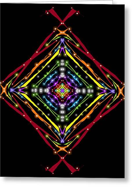 Native American Twinkling Rainbow Greeting Card