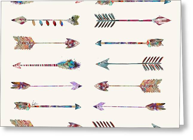 Native Arrows Greeting Card