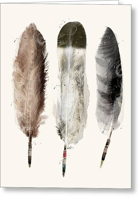Native Feathers Greeting Card