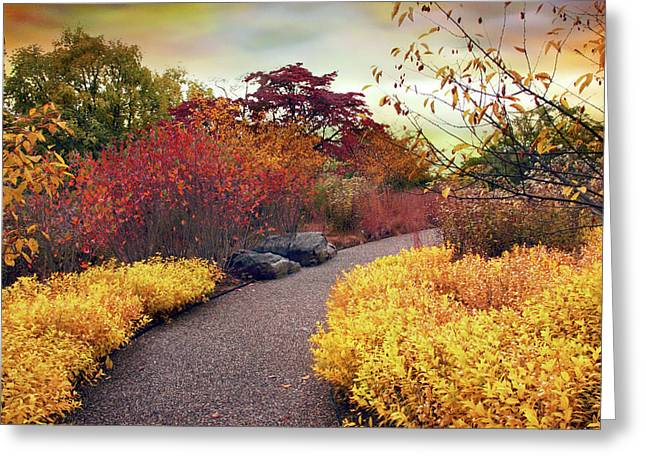 Native Garden Walkway Greeting Card by Jessica Jenney