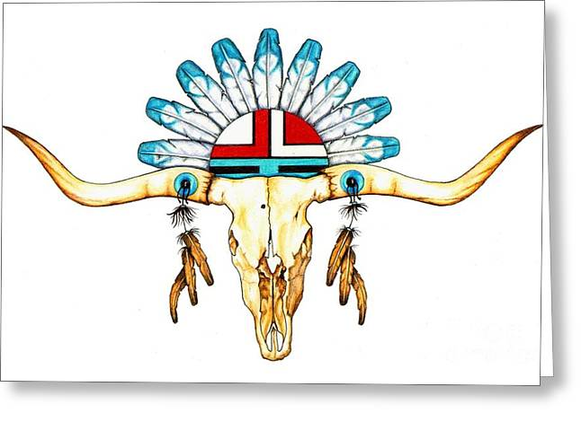 Native Guide Greeting Card by Sheryl Unwin